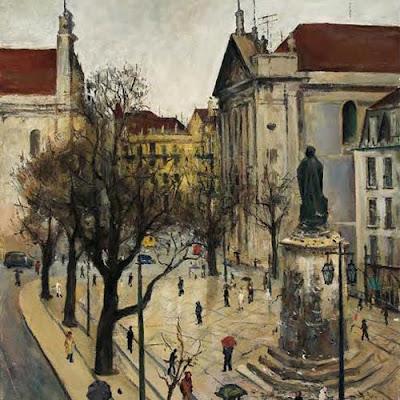 Landscape painting by Abel Manta Portuguese artist