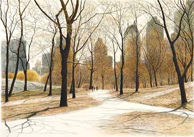 American artist Harold Altman. Lithography