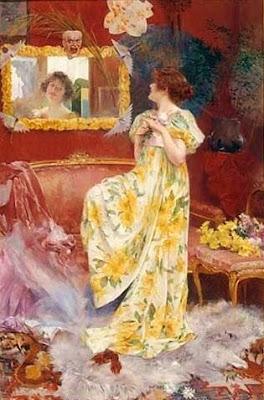 Painting by French Art Nouveau Artist Albert Emile Artigue