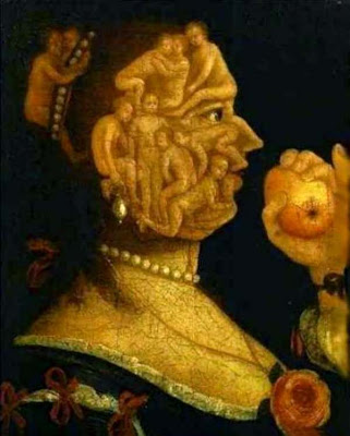 Paintings by Giuseppe Arcimboldo Eve with Apple