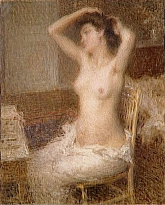 Nude Painting by Ernest Joseph Laurent French Artist