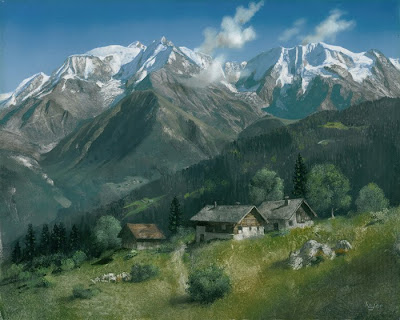 Landscape Painting by French Artist Pierre Raser
