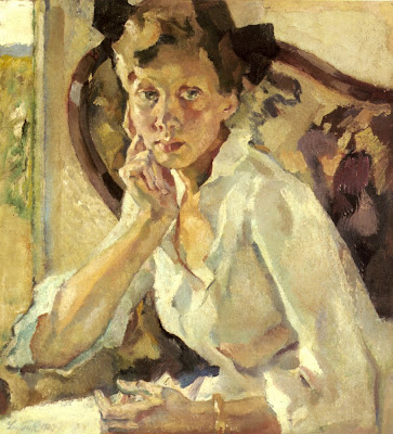 Painting by Leo Putz German Artist