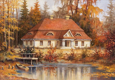 Landscape painting by Polish Artist Stanislaw Wilk