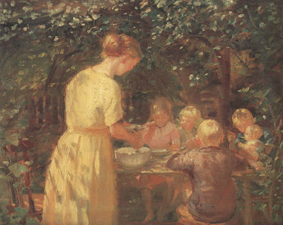 Oil Painting by Danish Impressionist Artist Anna Ancher