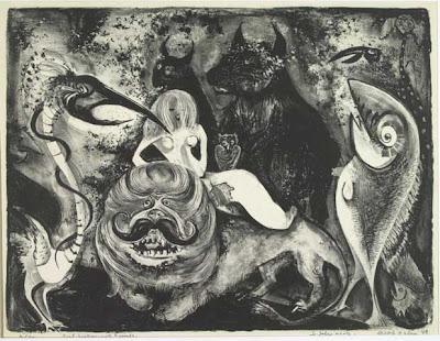 Lithography by Adolf Dehn American Artist