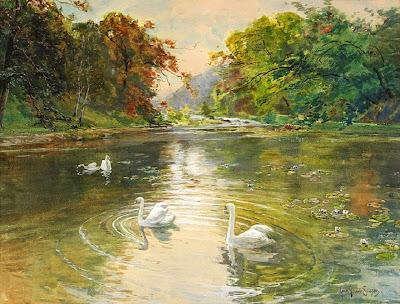 Watercolor Landscape by Swedish Artist Anna Gardell-Ericson