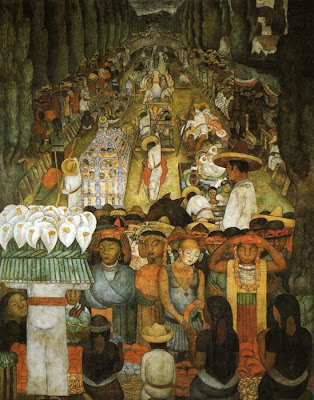 Good Friday in Painting. Diego Rivera. Good Friday on the Santa Anita Canal