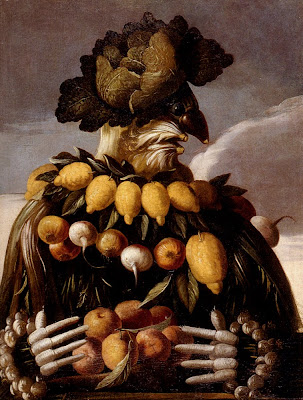 Painting by Giuseppe Arcimboldo Seasons