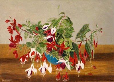 Flower Painting by Adolf Dietrich Swiss Naive Artist