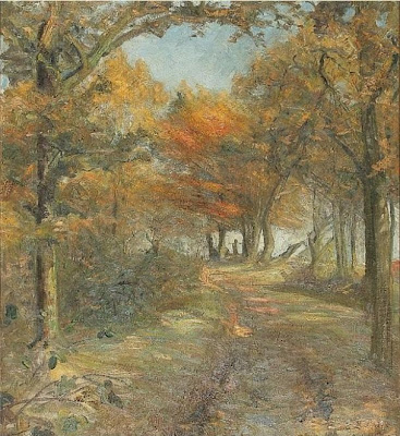 Landscape Painting by Danish Painter Aage Bertelsen