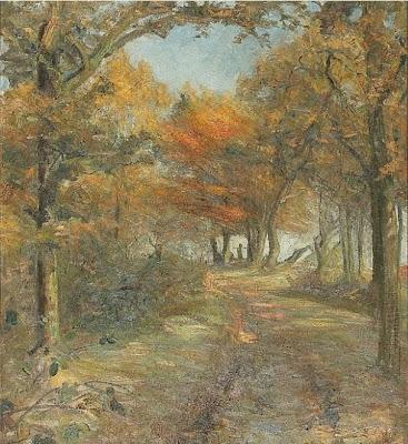 Landscape Painting by Danish Painter Aage Bertelsen