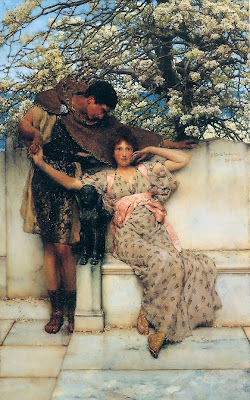 Spring Bloom in Painting. Lawrence Alma-Tadema, Promise of Spring