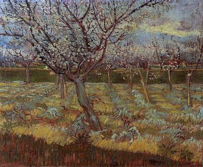 Spring Bloom in Painting. Van Gogh, Apricot Tree in Bloom