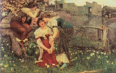 Spring Bloom in Painting. Edward Matthew Hale, The Three Princesses