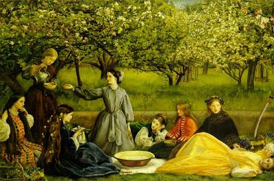 Spring Bloom in Painting. John Everett Millais, Apple Blossoms