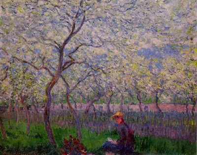Spring Bloom in Painting. Claude Monet, An Orchard in Spring
