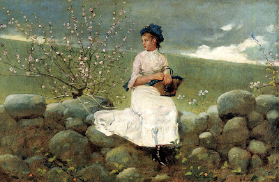 Spring Bloom in Painting. Winslow Homer. Peach Blossoms