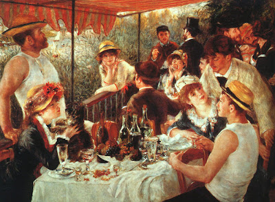 Painting by Pierre-Auguste Renoir Luncheon of the Boating Party, 1881