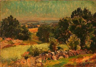 Landscape Painting by Danish Artist Viggo Pedersen