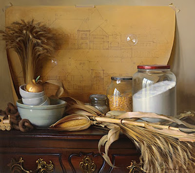 Still Life Painting by American Artist Jeffrey T. Larson