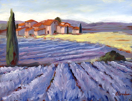 Lavender Paintings. bernie donahue