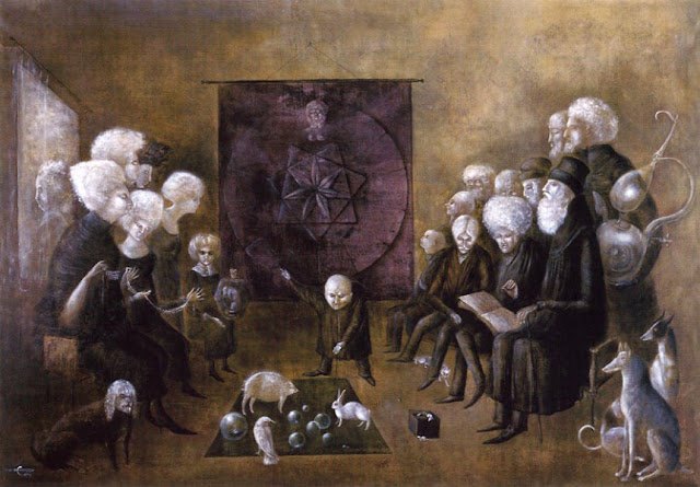 Leonora Carrington,Crystal Ball in Painting, oil paintings, canvas painting,Figurative painting