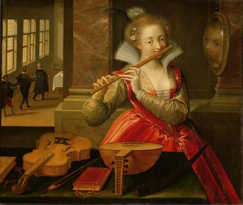 Women and Music in Painting 16-18th c,Dirk de Quade van Ravesteyn, Allegory of Music