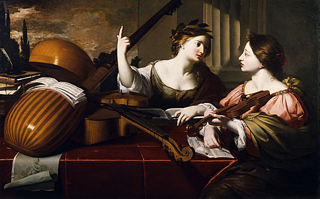 Women and Music in Painting 16-18th c, Nicolas Regnier, Divine Inspiration of Music