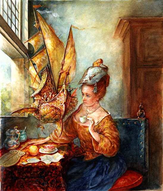 American artists, Omar Rayyan book illustration,graphics, illustration, watercolor
