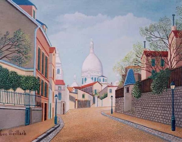 Lucien Vieillard, Sacre Coeur in Painting