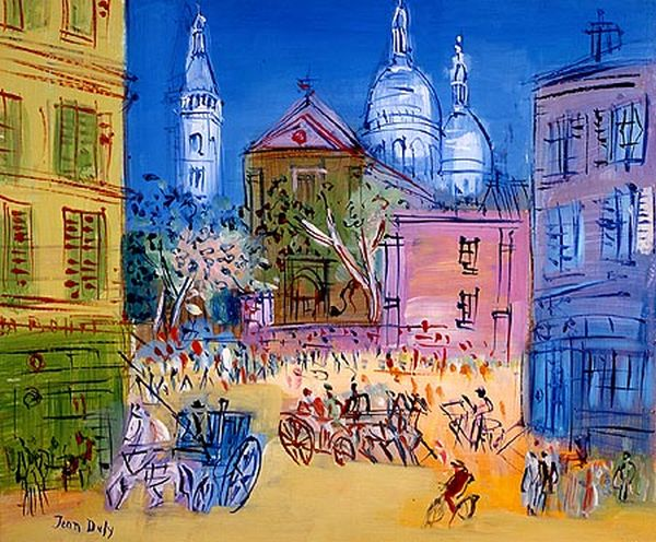 Sacre Coeur in Painting. Jean Dufy