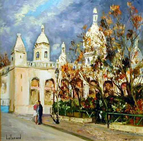 Sacre Coeur in Painting. Daniel Lallemand
