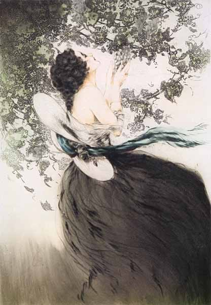 Illustration by Louis Icart Art Deco Artist