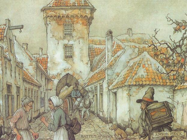 Illustration by Dutch Artist Anton Pieck
