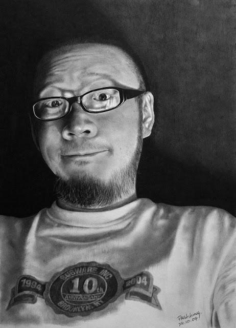 Pencil Drawing by Hong Kong Artist Paul Lung