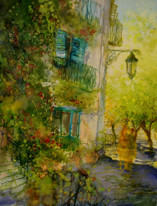 Ivan Dodov, Contemporary Bulgarian Artist, watercolor landscapes, Light and shadow