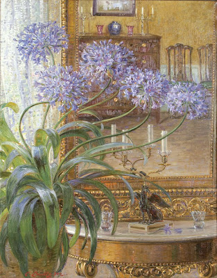 Carl Budtz Moeller. Agapanthus Before a Mirror