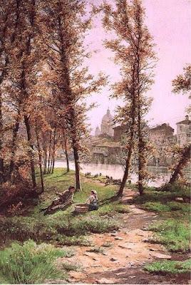 Ettore Roesler Franz. Castello in Rome