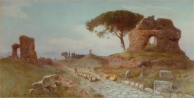 Ettore Roesler Franz. La Via Appia verso Albano