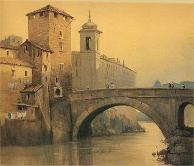 Ettore Roesler Franz. Isola Tiberina in Rome