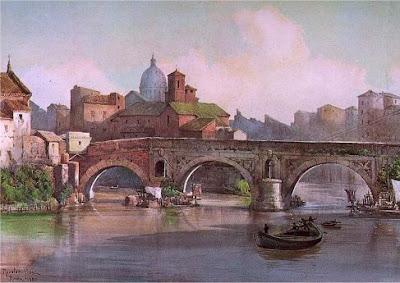 Ettore Roesler Franz, Ponte Rotto ed isola tiberina
