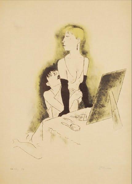Jeanne Mammen,German artist,Weimar era artist, graphics, ,Jalousie