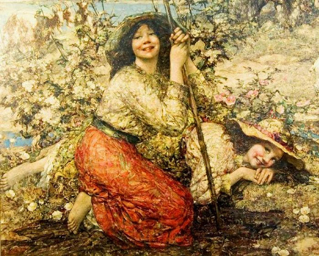 Edward Atkinson Hornel, Summer Themed Oil Paintings