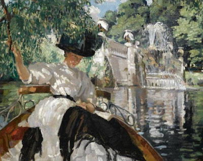 Philipp Connard. Bayswater on the Serpentine