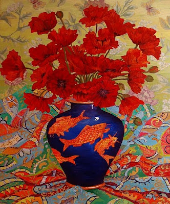 John Powell. Playful Koi