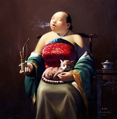 Women in Painting by Liu Baojun Chinese Artist
