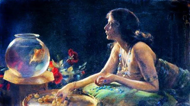 Charles Courtney Curran's Painting, Goldfish in Painting