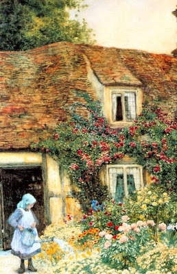 Arthur Claude Strachan. The Little Gardener. Painting