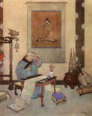 Edmund Dulac. The Nightingale Illustrations